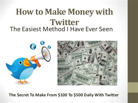 How To Make Money Online Daily - how to make money with twitter 100 daily money online