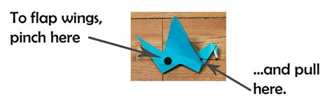 Origami Bird With Flapping Wings - origami flapping bird researchparent