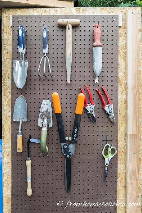 shed organization  easy  inexpensive diy garden tool