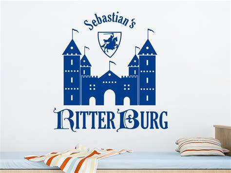 Wandtattoo Kinderzimmer Ritterburg by Wandtattoo Ritterburg Mit Name Wandtattoo De
