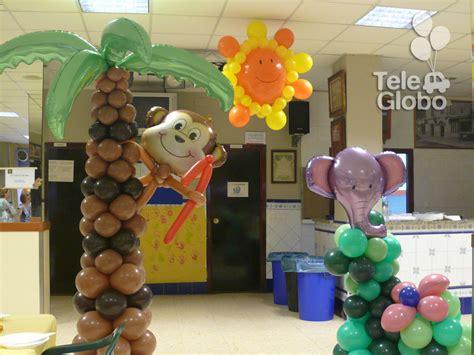 decoraci 243 n con globos para cumplea 241 os con tem 225 tica selva