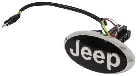 Jeep Trailer Hitch Cover Jeep Led Lighted Trailer Hitch Cover 1 1 4 Quot And 2