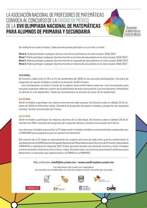 plurinacionales deportivos 2016 primaria convocatoria convocatoria al concurso de primaria y secundaria 2016 2017