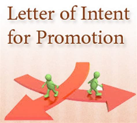 Letter Of Intent Promotion Promotion Letter