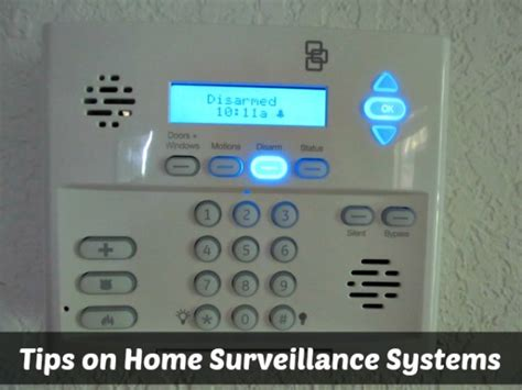 tips on home surveillance systems