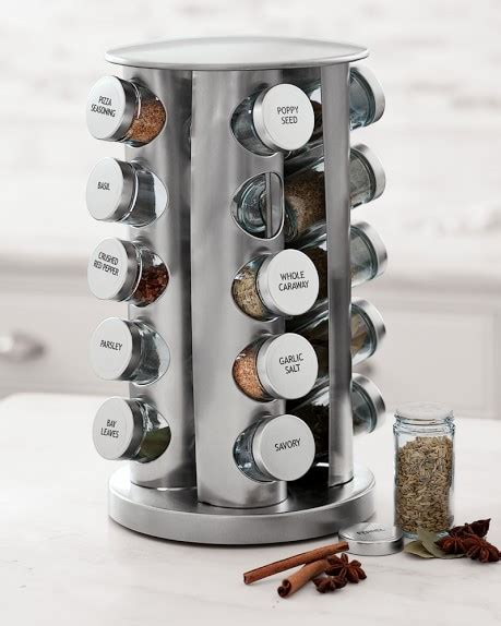 brushed stainless steel spice rack williams sonoma