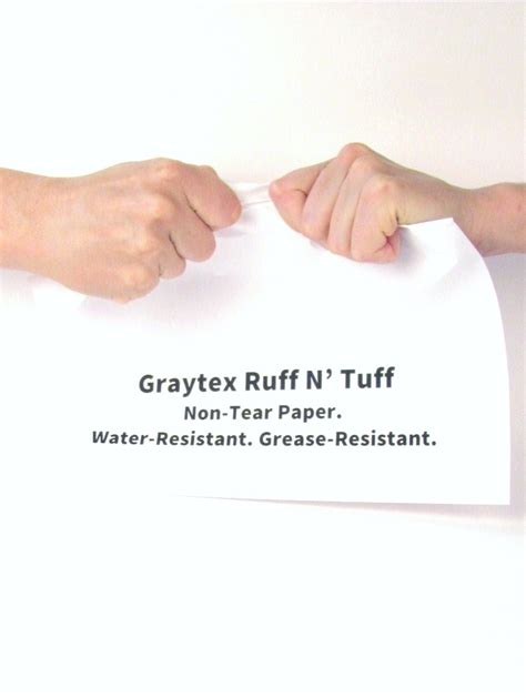 How To Make Tear Paper - durable paper for mud grease heavy handling