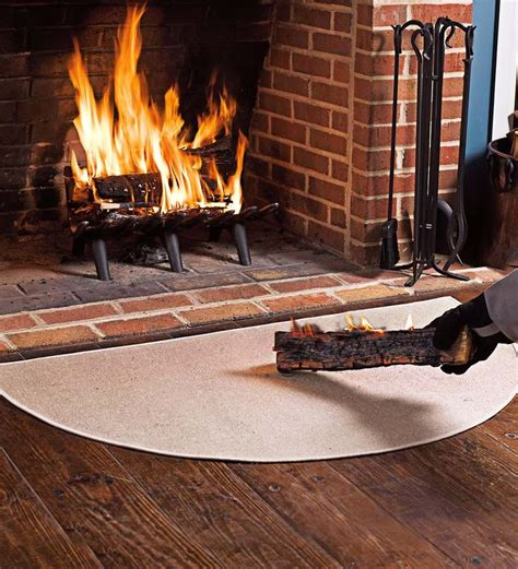 Hearth Fireplace Rugs by Resistant Fiberglass Half Hearth Rug 32 Quot X 60
