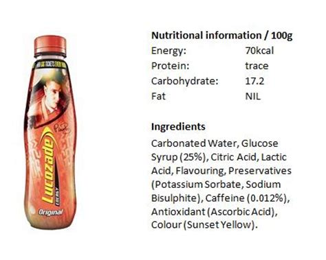 1 energy drink per day content per energy drink 0g gain per energy