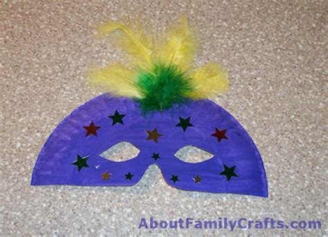 How To Make A Mardi Gras Mask Out Of Paper - how to make a paper plate mardi gras mask about family