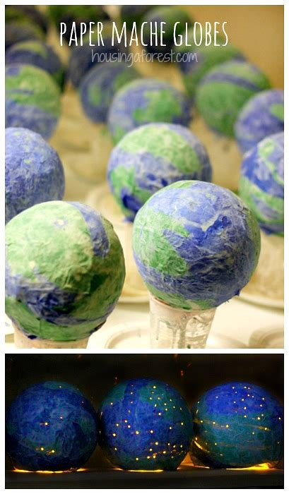 How To Make A Paper Mache Globe - 13 earth day diy crafts that will grow on you candydirect