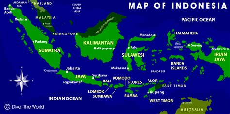 where is indonesia on the world map indonesia map java and jakarta bali komodo sulawesi