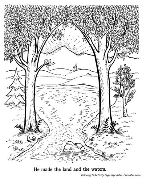 free coloring pages of story of creation