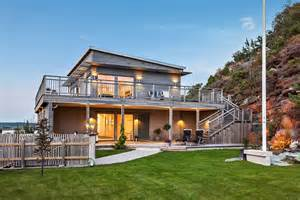 scandinavian style home scandinavian house with a splendid view of the sea