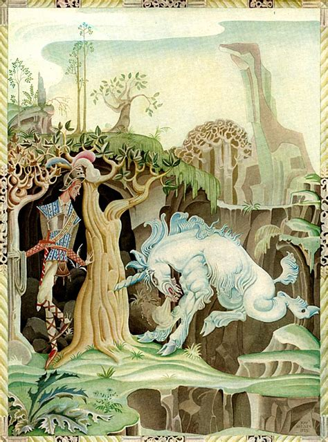 unicorn fairy tale illustrations kay nielsen melt