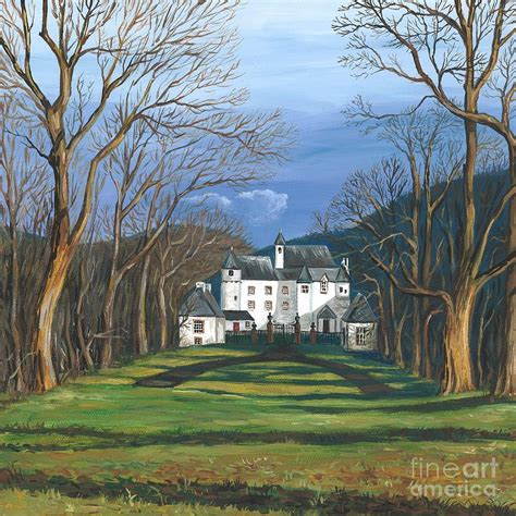 Free Online House Plans Mansion In The Woods Painting By Margaryta Yermolayeva