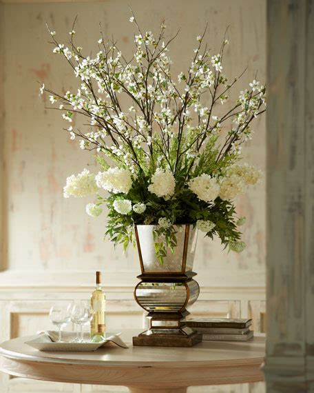 john richard collection ivory arrangement  mirrored planter