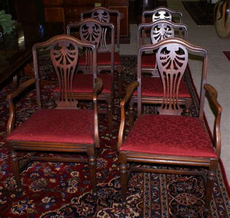 antique dining room set for sale antiques classifieds nice set of walnut edwardian back dining room chairs for
