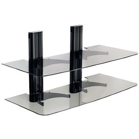 Sanus Component Shelf by Sanus Vf2022 Two Shelf Dual Column Av Wall Mount Vf2022 B1 B H