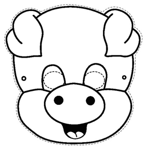 pig mask coloring page sketch coloring page
