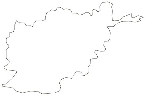 Afghanistan Pakistan Map Outline by Outline Map Of Clipart Best
