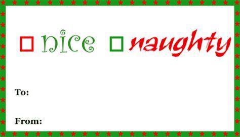 printable naughty nice gift tags nice naughty gift tag printable gift tag
