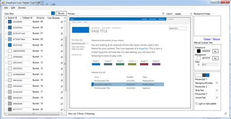 sharepoint color palette tool create and deploy color palette in sharepoint