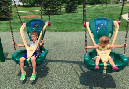 age for baby swing at park brooks school park fishers
