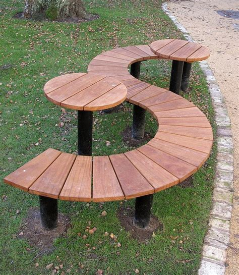 s bench bp14 half round bench s shaped seat