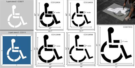 disabled parking template car lot pictures