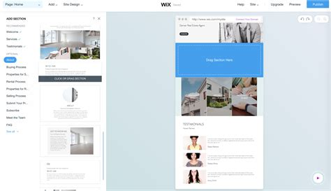 Wix The Perfect Website Builder For Real Estate Agents Squarespace Templates For Sale