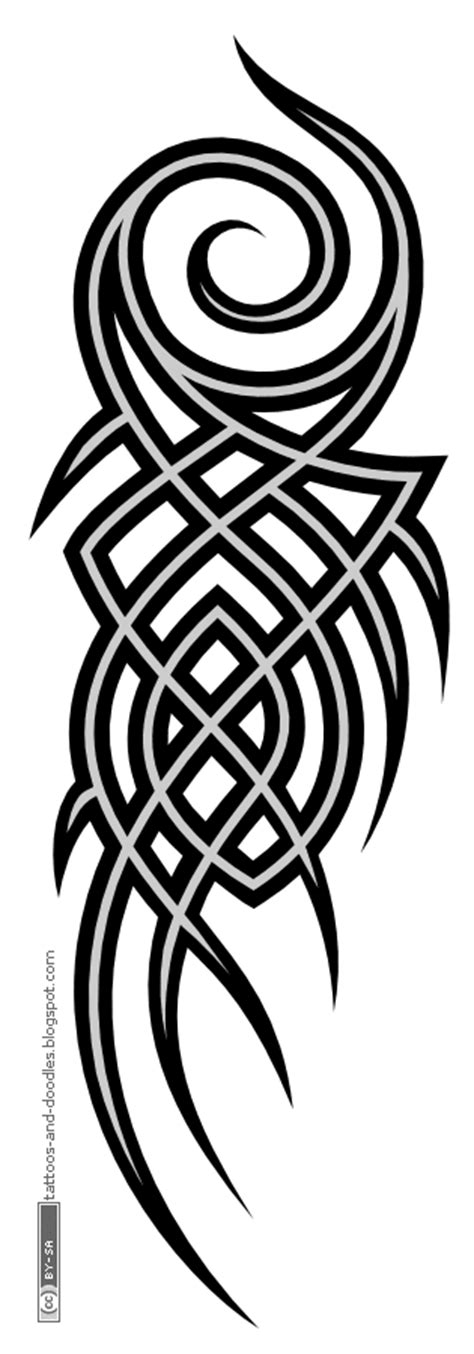 vertical tribal tattoos tattoos and doodles vertical tribal for an arm