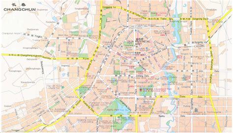 changchun map changchun city map changchun china mappery