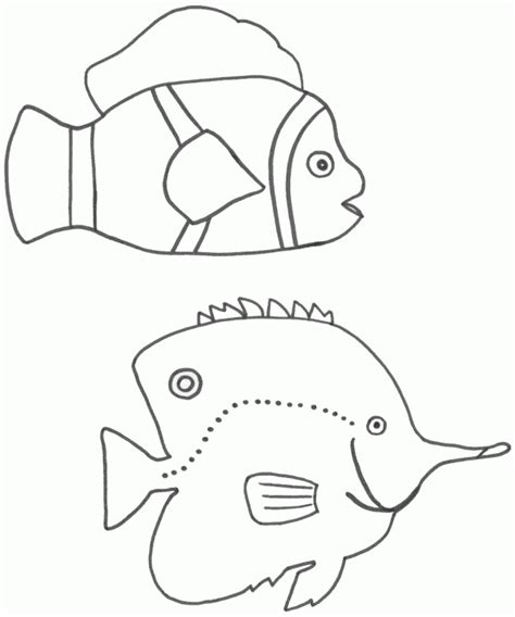 fish coloring template fish template for preschool coloring home
