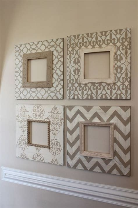 Photo Frames Handmade Ideas - stencil picture frames and easy diy home