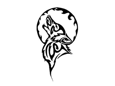 small tribal wolf tattoo 1000 ideas about tribal moon on moon
