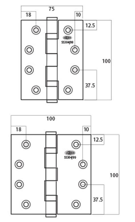 standard door hinge size lockwood 100 series architectural hinges lockwood australia