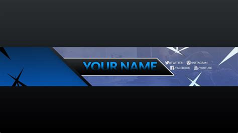Free Banner Template For Youtube Channel 17 Photoshop I Download 2017 2018 Youtube Banner Template 2018