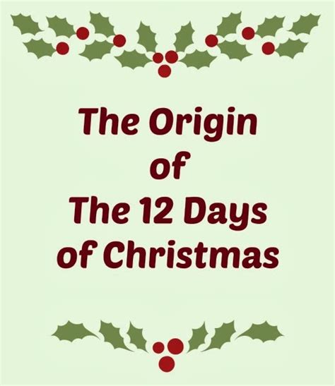 controlling craziness the origin of the 12 days of christmas