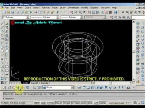 autocad nut tutorial autocad nut bolt drawing tutorial doovi