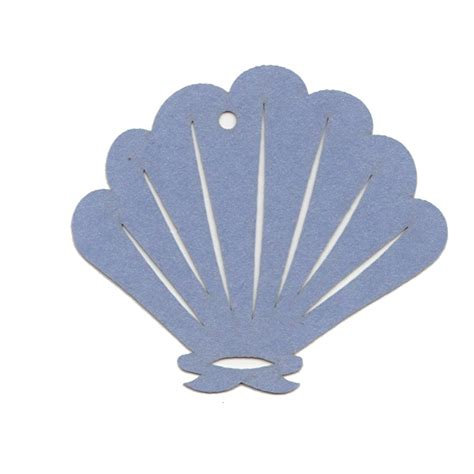 shell shaped card template paper tags shapes cards pockets