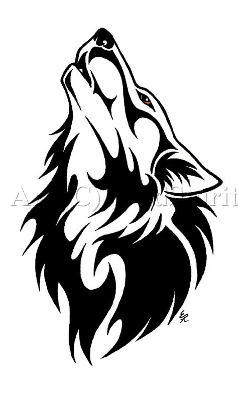 Black Tribal Wolf Tattoo Design Drawing Black Wolf Designs