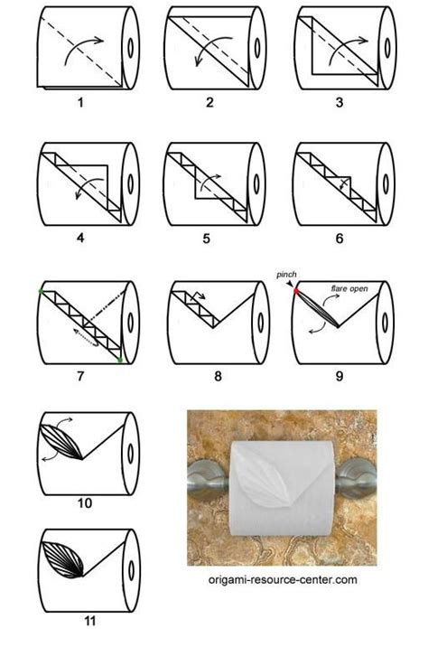 How To Fold Toilet Paper - 9 best images about toilet paper origami on