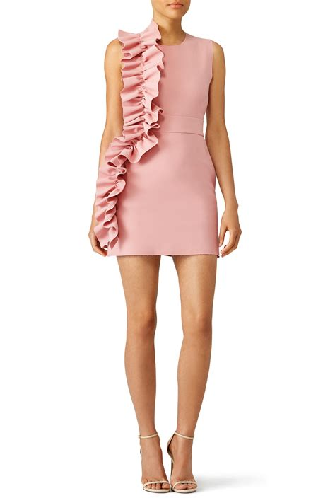 Pink Side Ruffle Dress by MSGM for $50   $80   Rent the Runway