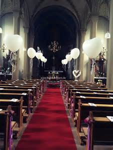 dekoration kirche hochzeit kirchen deko hochzeit ballonbrilliant