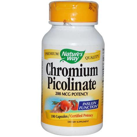 Suplemen Chromium Picolinate Nature S Way Chromium Picolinate 200 Mcg 100 Capsules