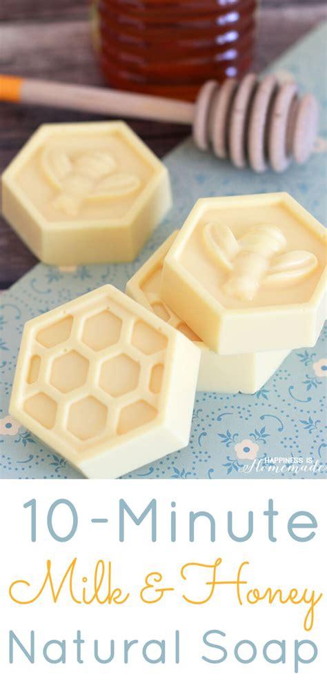 diy soap 10 minute diy milk honey soap happiness is