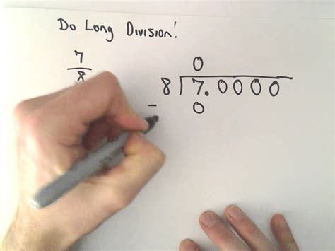 writing a fraction as a decimal exle 1