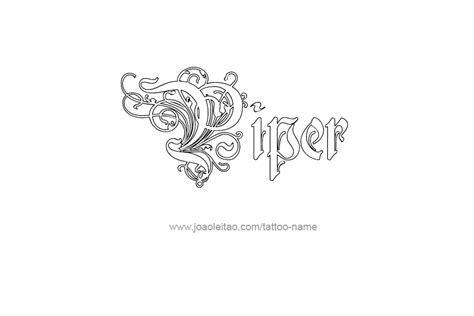 piper tattoo piper name designs