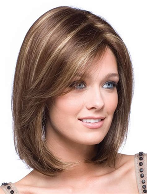 mid length layered haircuts for full face couleur de cheveux marron miel nos astuces sont ici